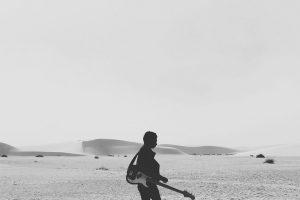 Guitar in the desert